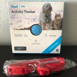 Poof Blue Pet Activity Tracker+Collar M